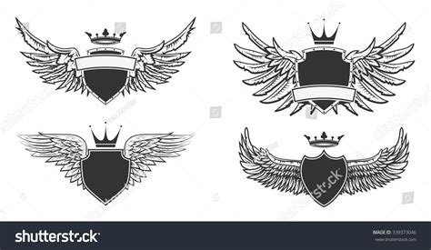 coat of arms template wings coat of arms template with wings www imgkid the