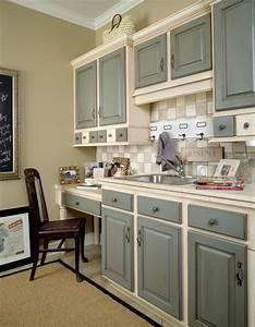 25 best ideas about two tone cabinets on pinterest two With what kind of paint to use on kitchen cabinets for blue heron wall art