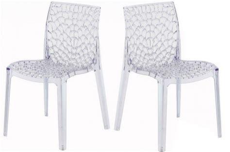 chaises transparentes pas cher lot de 2 chaises transparentes gruyer chaises design pas