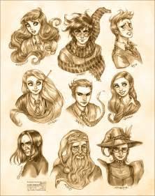 Harry Potter: Portraits by daekazu on DeviantArt