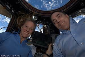 NASA astronauts indulge in the selfie photo trend, with a ...