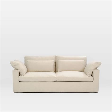 down filled slipcovered sofa harmony down filled slipcovered sofa 82 quot natural