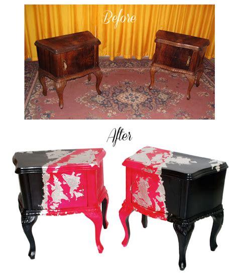 Comodini Stile Barocco Restauro Decorazione Comodini Barocco Colorati Before After