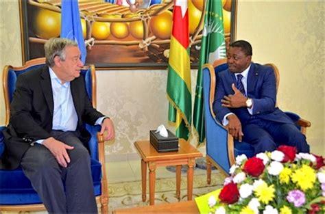 secretaire general de l union africaine le secr 233 taire g 233 n 233 ral de l onu en visite 224 lom 233 manationtogo