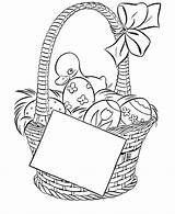 Easter Basket Pages Coloring Colouring Printable sketch template