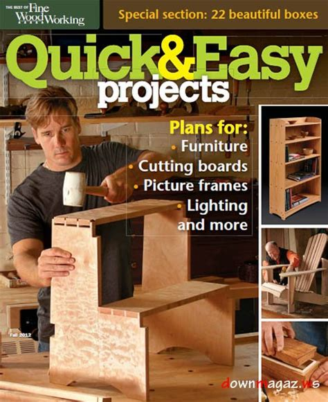 fine woodworking quick easy projects fall