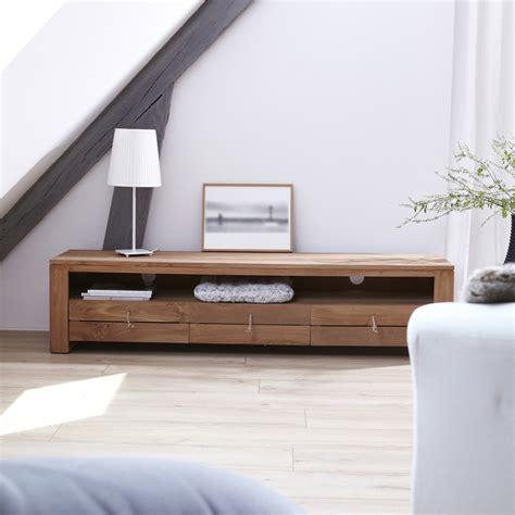 meuble télé chambre meuble tv bois massif meubles télé chene teck acajou