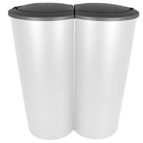 Duo Mülleimer Doppel Abfalleimer Papierkorb Müll Eimer