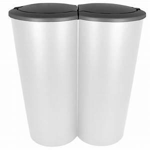 Doppel Mülleimer Küche : duo m lleimer doppel abfalleimer papierkorb m ll eimer k che 2x25 liter 50l neu ebay ~ Markanthonyermac.com Haus und Dekorationen