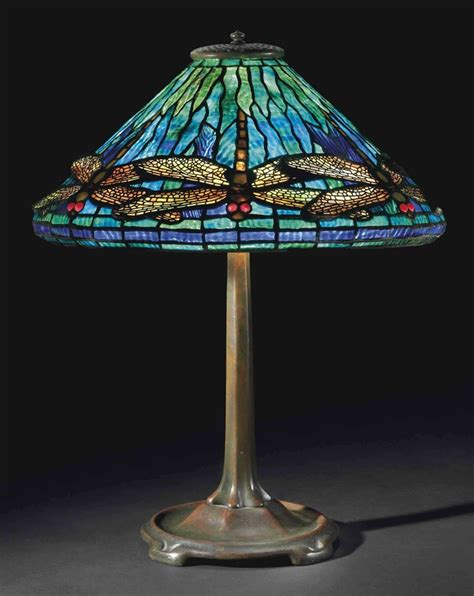 tiffany dragonfly table l tiffany studios a 39 dragonfly 39 leaded glass and bronze