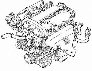 Schematic Of Mazda Miata Engine Showing Location Of