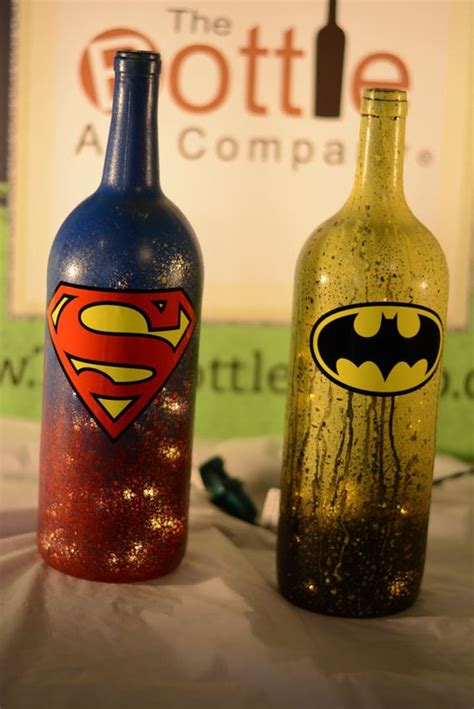 Decorative Wine Bottles With Lights by Superman Batman Series League Of Justice