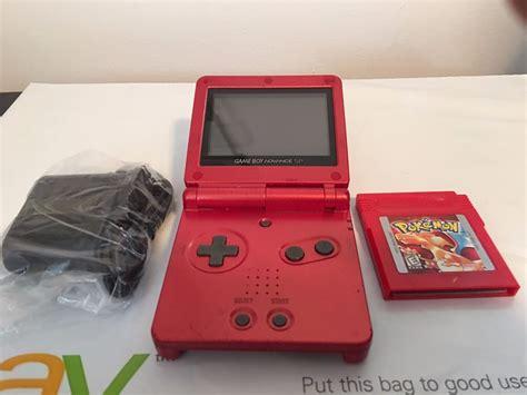 Nintendo Game Boy Advance Sp Fire Red Pokemon Red