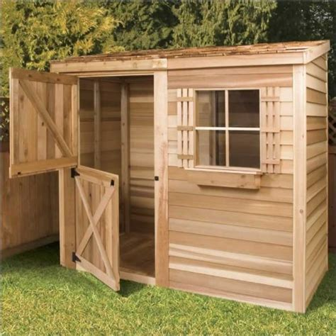4 x 8 wooden storage shed cedar shed 8 x 4 ft bayside wood storage shed