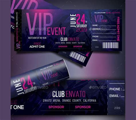 event ticket templates psd ai word design trends