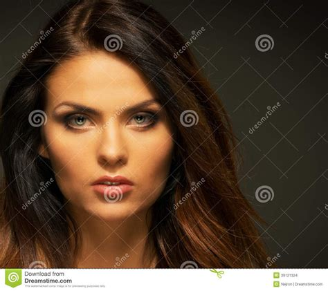 Seductive Brunette Woman Stock Photo Image Of Attractive