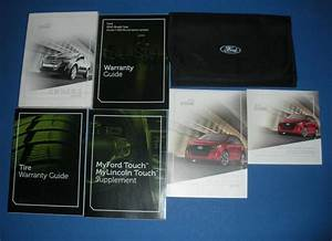2012 Ford Edge Owners Manual Book Guide Set
