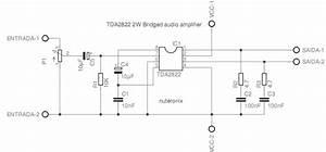 2 Watts Audio Power Bridge Amplifier Ic Tda2822