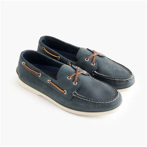 J Crew Boat Shoes by Sperry 174 For J Crew Authentic Original 2 Eye Broken In Boat