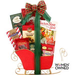 alder creek chicken soup for the soul gift of christmas sleigh gift basket food gifts