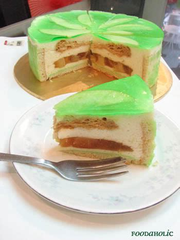 apple mousse cake  apple jelly  puff pastry
