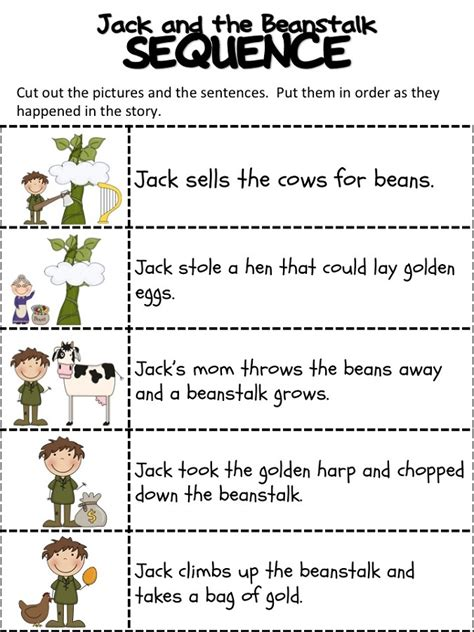 worksheets for and the beanstalk and the beanstalk worksheets activity shelter