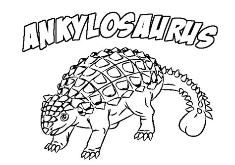 printable ankylosaurus coloring page coloringpagebookcom
