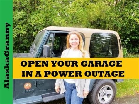 Garage Door No Power by How To Open A Garage Door If The Power Goes Out No