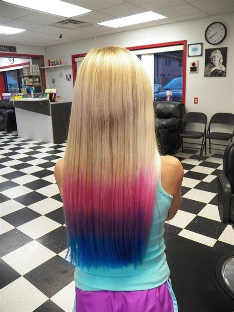 pink purple  blue ombre     makeup