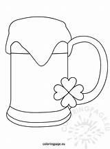 Beer Saint Patrick Patricks Coloring St sketch template