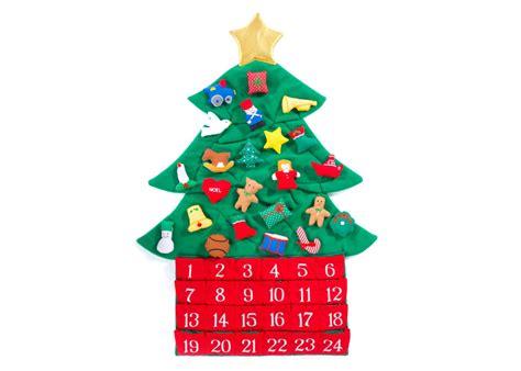 christmas tree fabric advent calendar plaid tidings