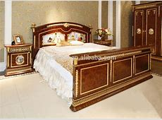 French Baroque King Size Gilt Brass Mounted Bed Porcelain