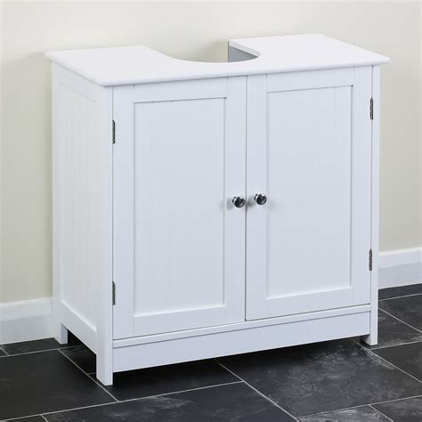 Classic White Under Sink Storage Vanity Unit Bathroom