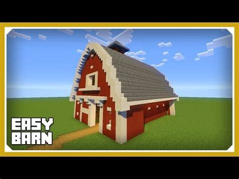 minecraft   build  barn house tutorial easy survival minecraft house http