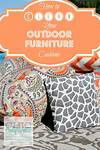 How to Clean Your Outdoor Furniture Cushions - Chic California how to clean outdoor cushions patio furniture