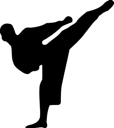Karate Clipart Karate Kick Silhouette Clip At Clker Vector Clip