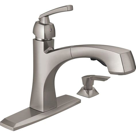 single handle kitchen faucet with pull out sprayer delta montauk single handle pull out sprayer kitchen