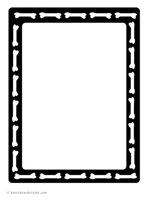 Funny Bones A4 Border Paper Plain, Lined and Half Lined