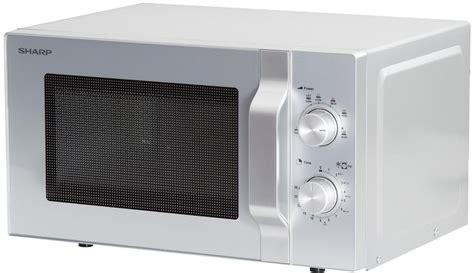 mikrowelle 20 l sharp r204s mikrowelle 20 l 800w silber sharp bei elektroshop wagner