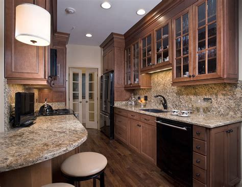 lighted kitchen cabinets condo traditional kitchen chicago by 3767