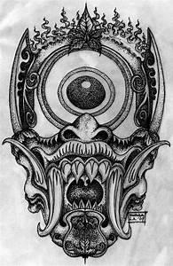 Demon Japonais Dessin : japanese demon mask google search art pinterest tatouage demon japonais et dessin ~ Maxctalentgroup.com Avis de Voitures