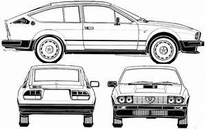 alfa romeo gtv6 blueprint download free blueprint for 3d With alfa romeo drawings