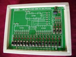 16x1 Multiplexer Using 8x1 Multiplexer  Model Multpxr