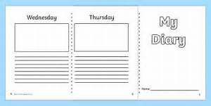 writing templates diaries and journals early years With diary writing template ks1