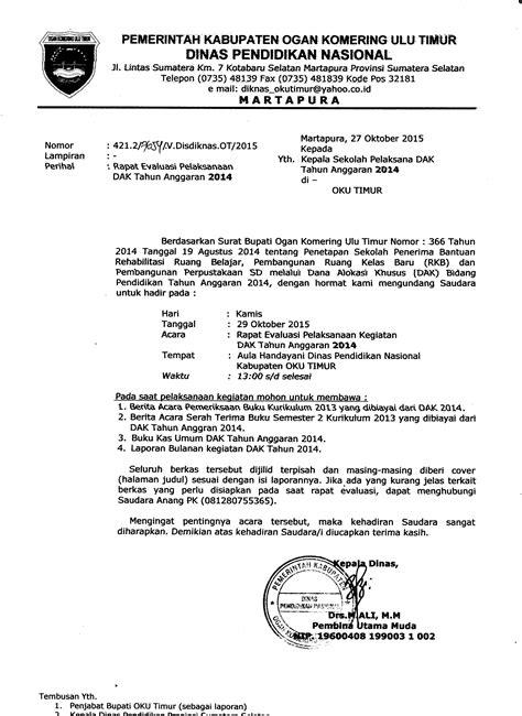 Surat Undangan Dinas by Contoh Surat Dinas Undangan Rapat Perusahaan Contoh Tempo
