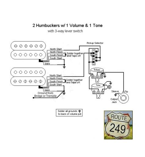 Wiring Two Humbuckers With One Volume Tone Route