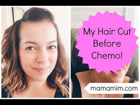 pre chemo hair cut lovefrommimcom youtube