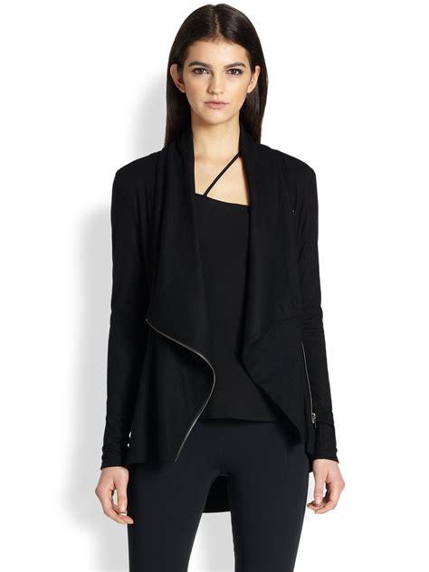 lyst helmut lang draped jacket in black - Helmut Lang Draped Jacket