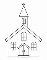 Church Coloring Printable Building Categories sketch template