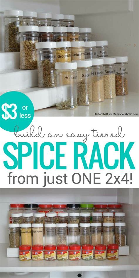 Remodelaholic   How to Build an Easy Tiered Spice Rack